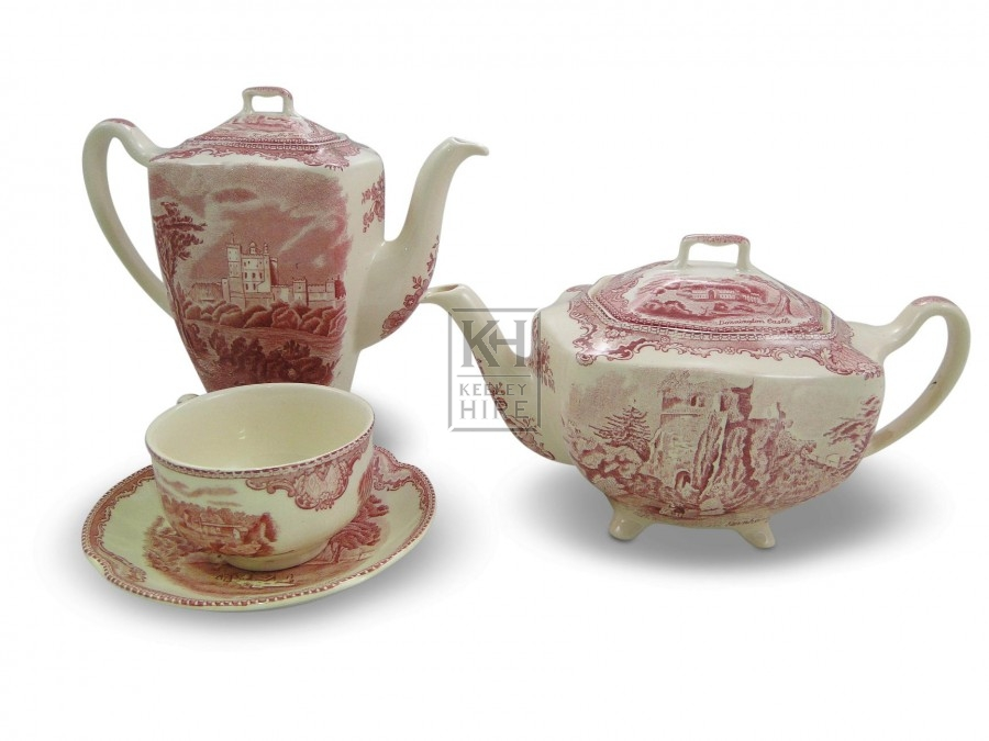 Patterned Coffee & Teapot & cup