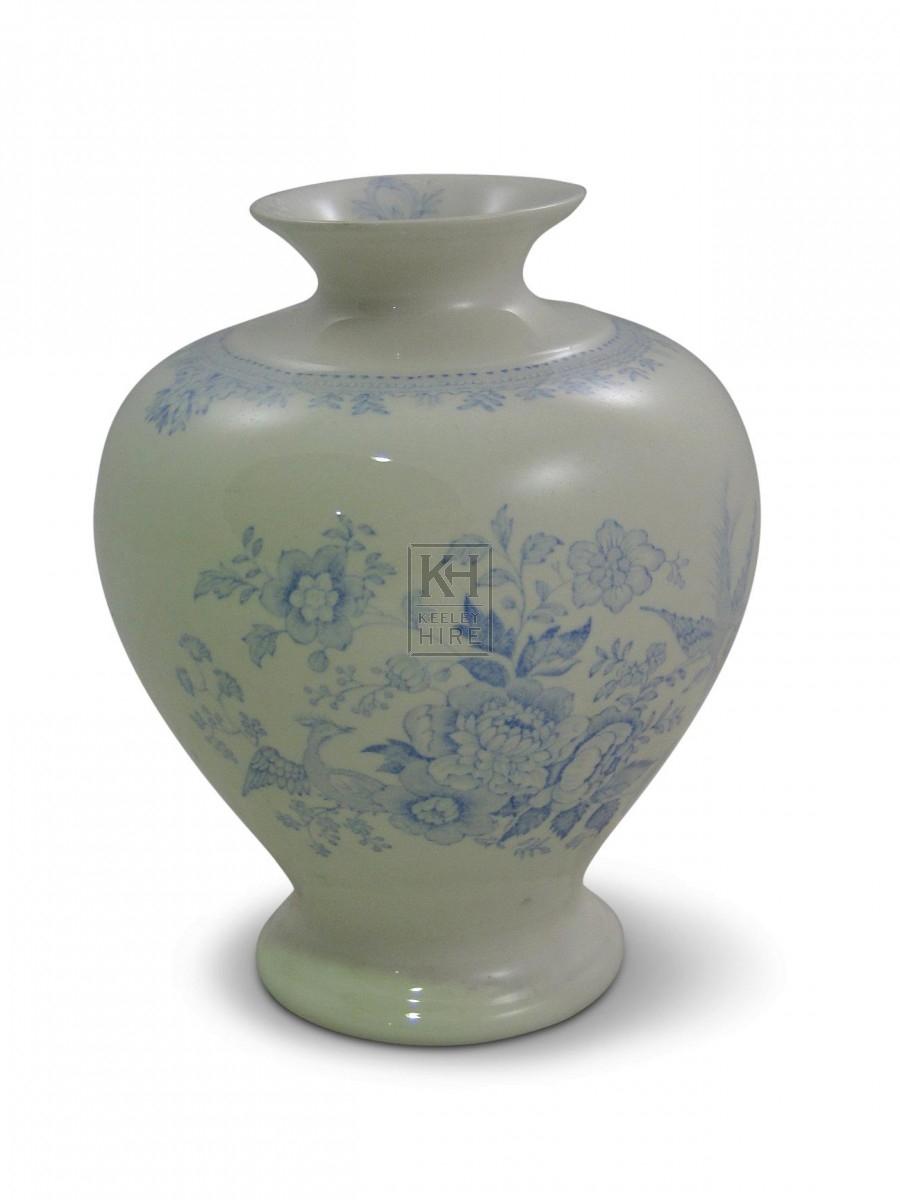 Pale Blue China Vase