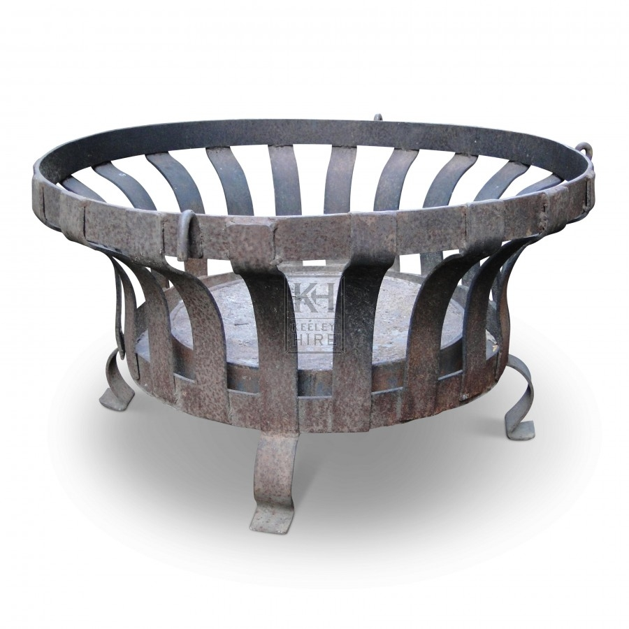 Large Concave Sided Low Iron Brazier