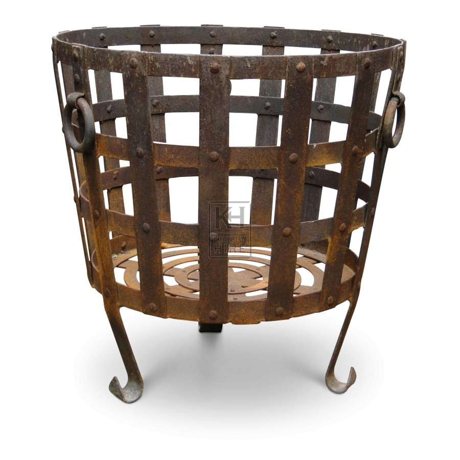 Large Iron Brazier with Ring Handles