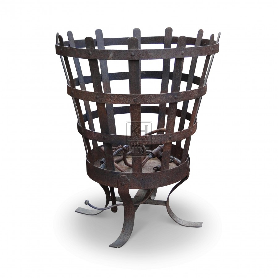 Large medieval brazier with shaped legs