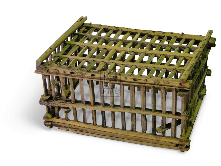 Small rough wood cages without Lids