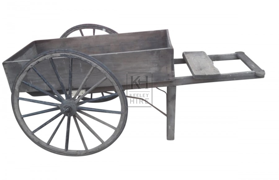 Fruit & Veg handcart with large wheels