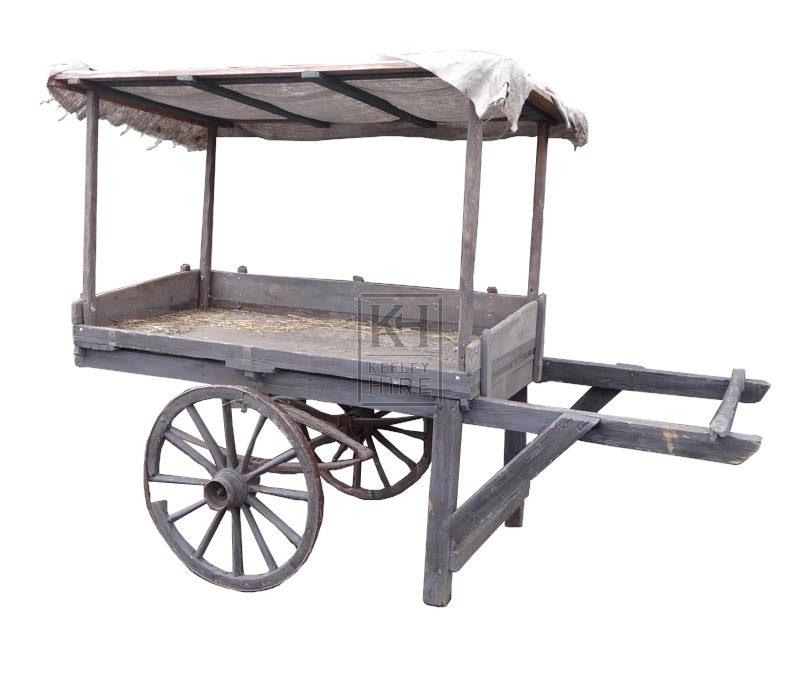 2-wheel handcart with sloping Display