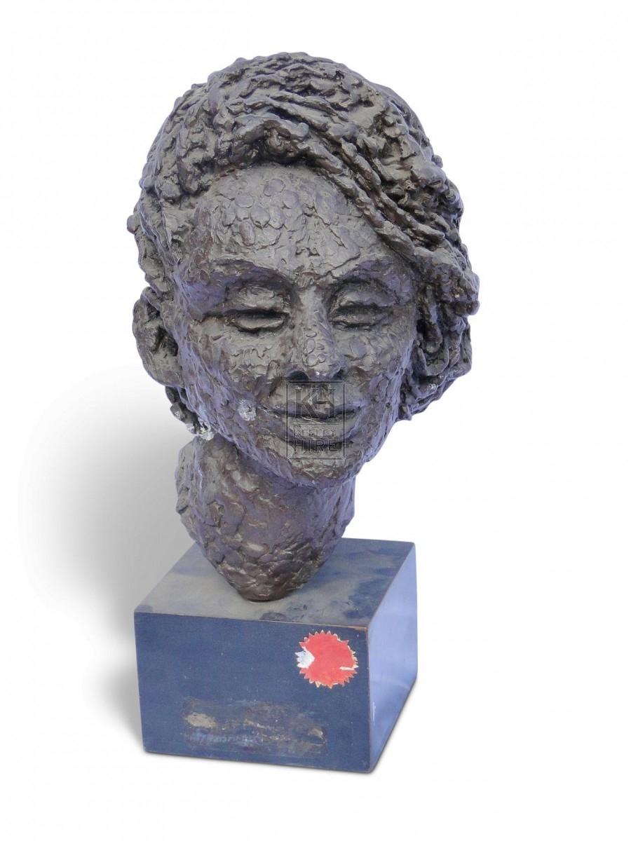 Clay Head on Plinth