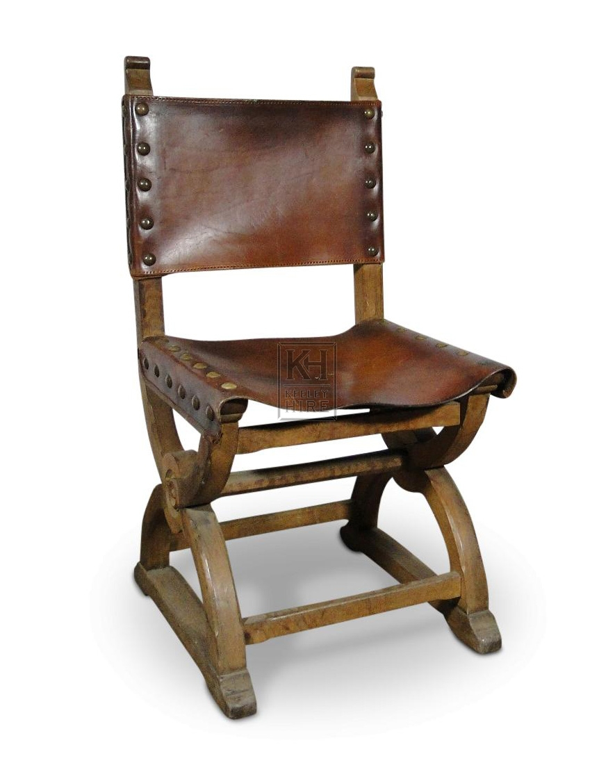 Leather X-frame Chair