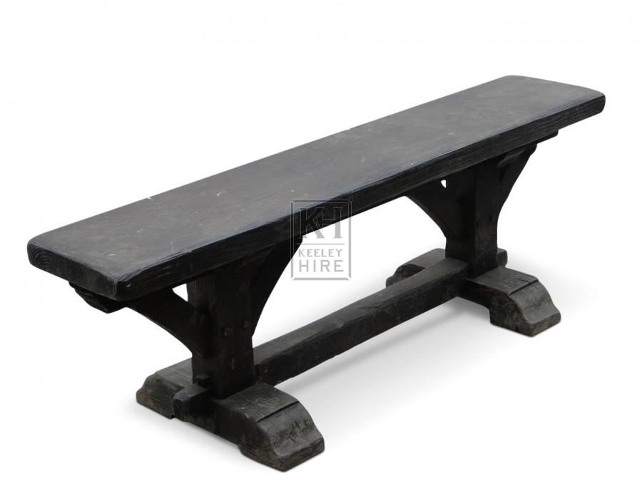 4ft Dark wood benches