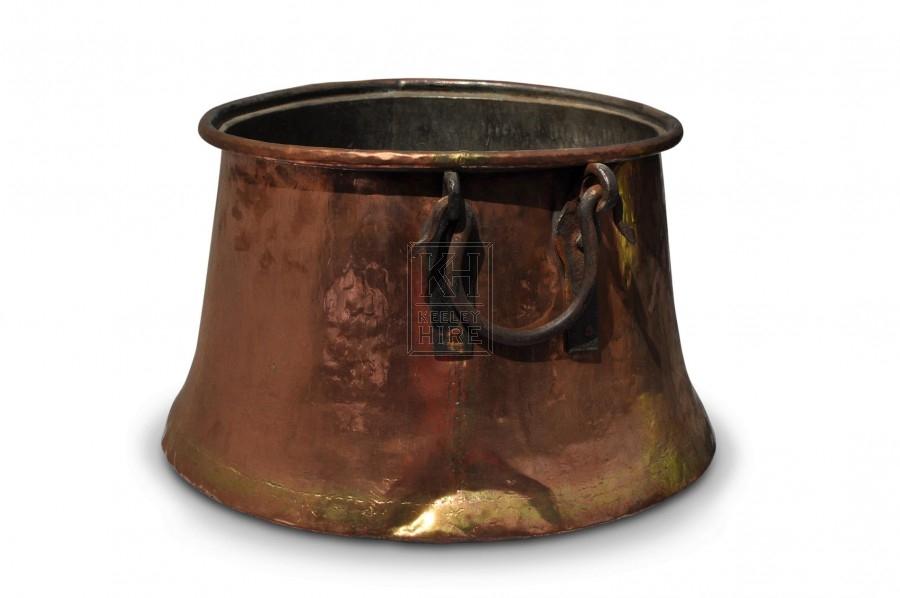 Large Copper Cauldron #1