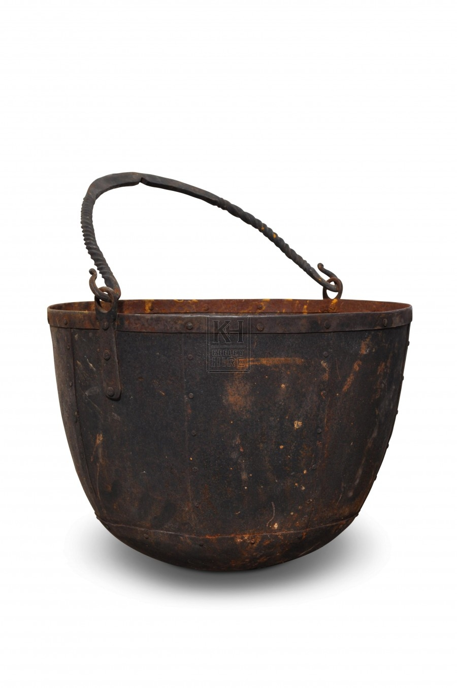 Large Rivetted Iron Cooking Pot