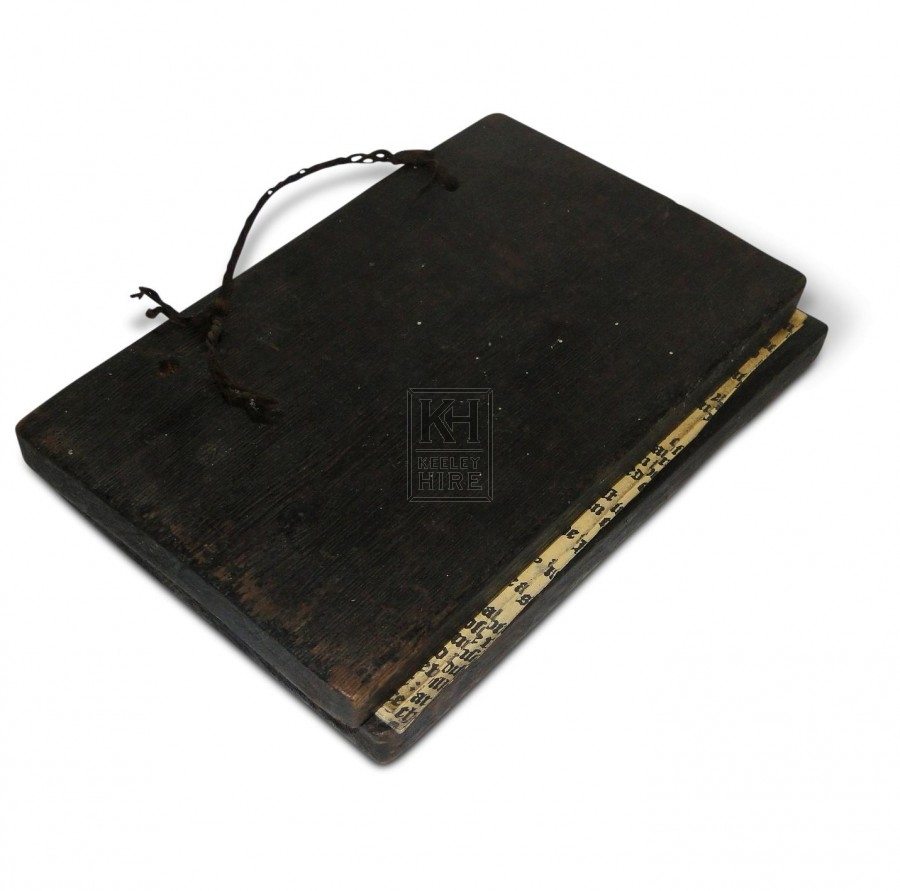 Book with Wooden Covers