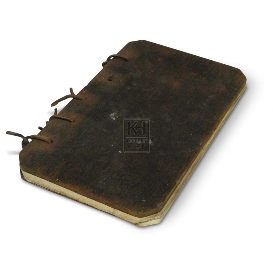 Book with Rounded Wooden Covers