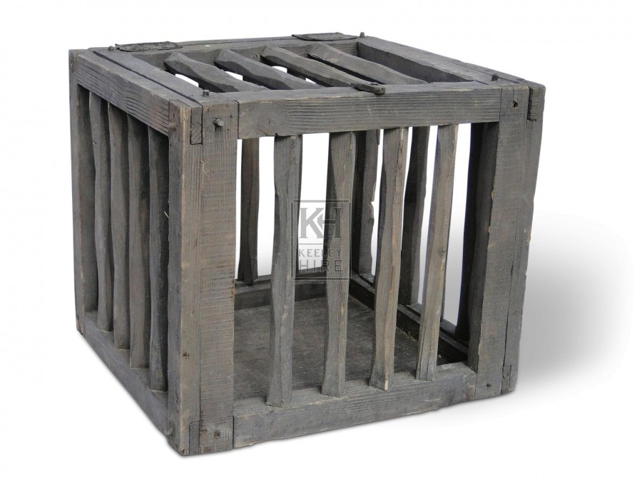 Rough Wood Chicken Cage