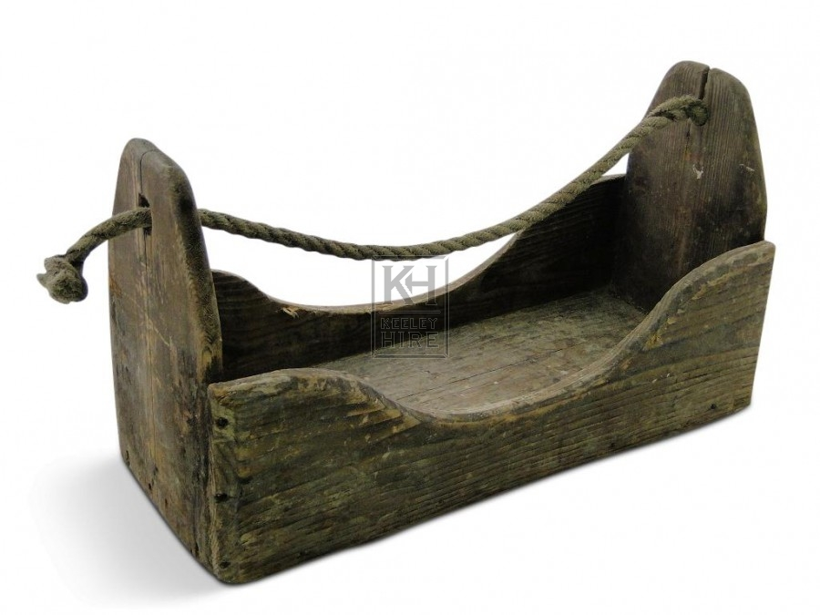 Wooden Toolbox with rope handle
