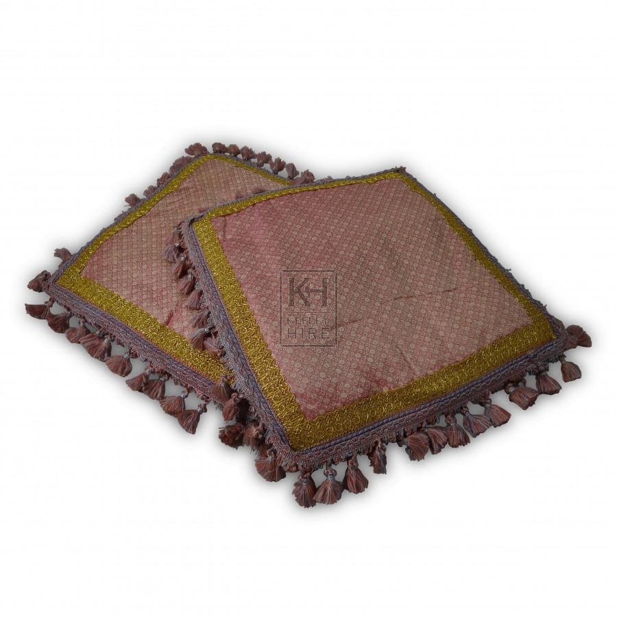 Pink Decorated Cushion