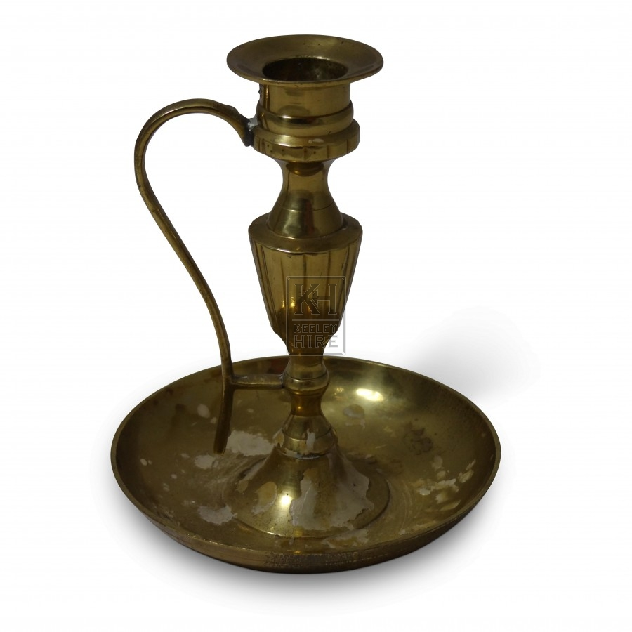 Standing Brass Candleholder