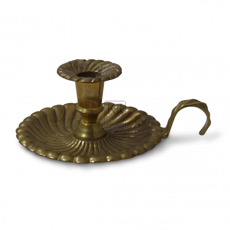 Embossed Brass Candleholder