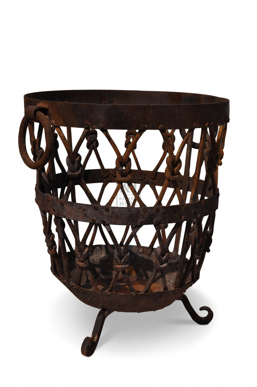 Medium Ornate Iron Brazier