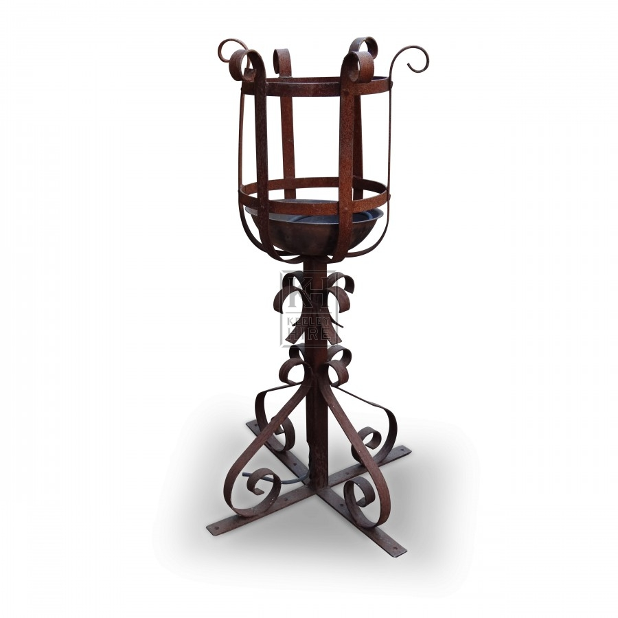 Upright Iron Brazier