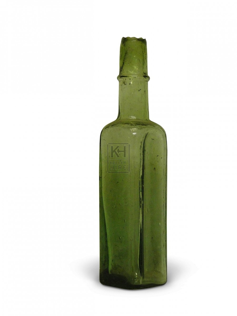 Small Square Glass Bottle