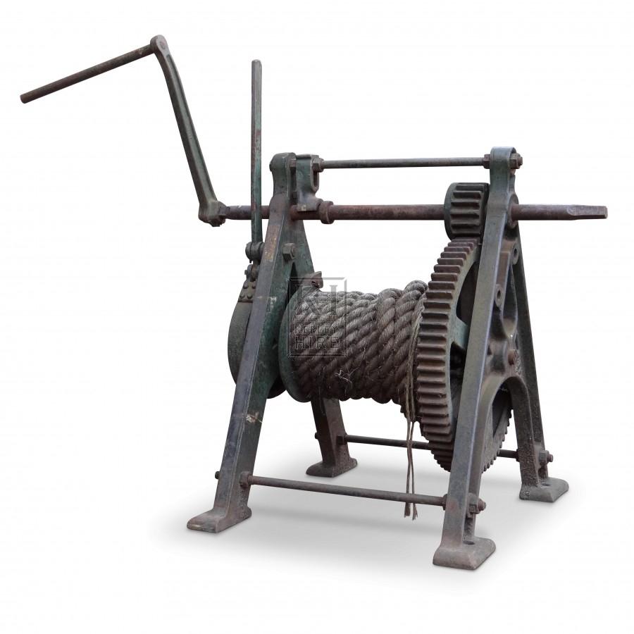 Iron Winch with Crank
