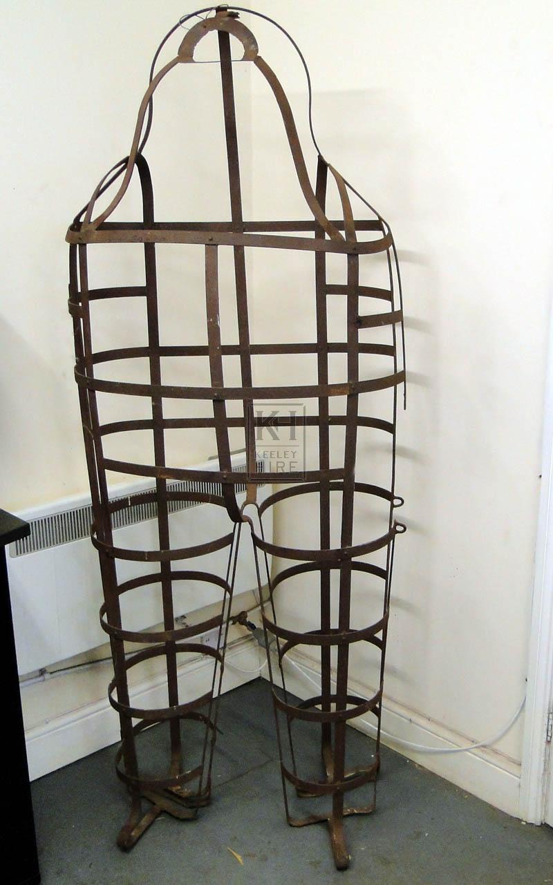 Man Shaped Iron Gibbet Cage