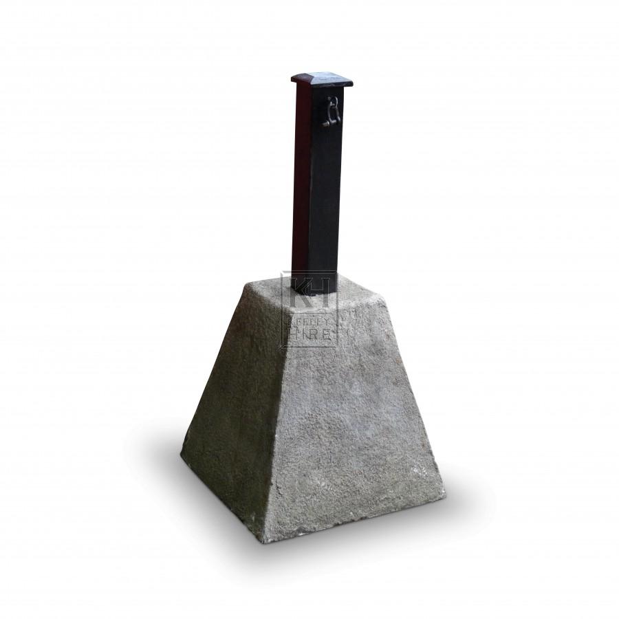 Bollard with Concrete Base