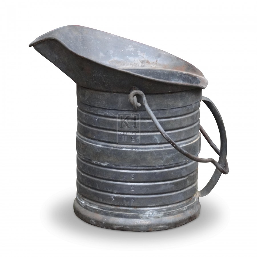 Galvanised Jug Shaped Bucket