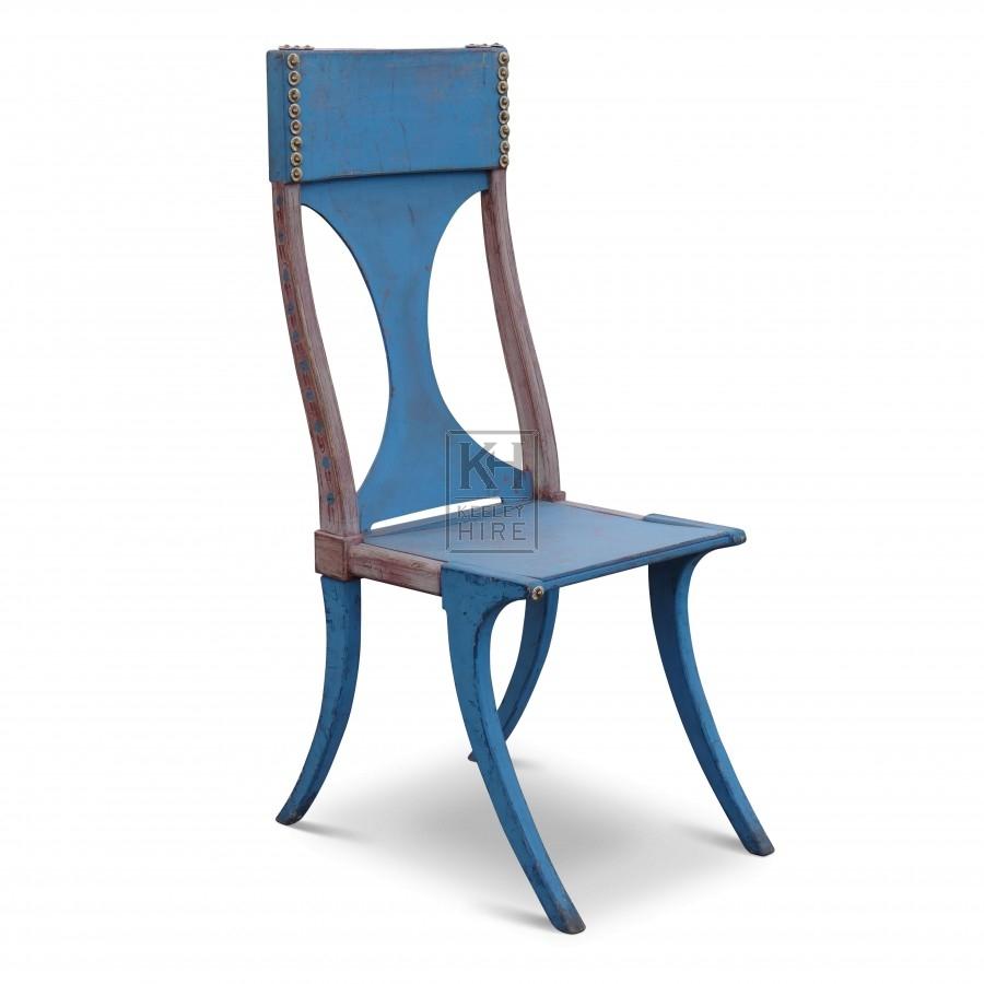 Tall Blue Shaped Chair