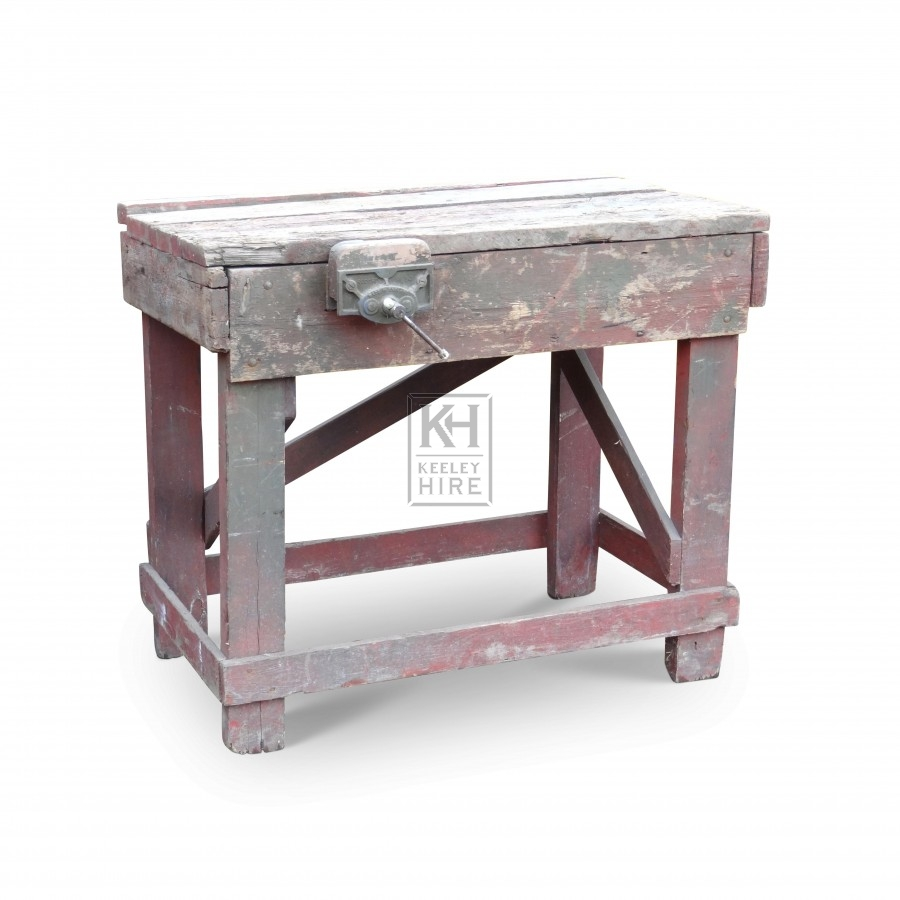 Solid Wooden Workbench with Vice