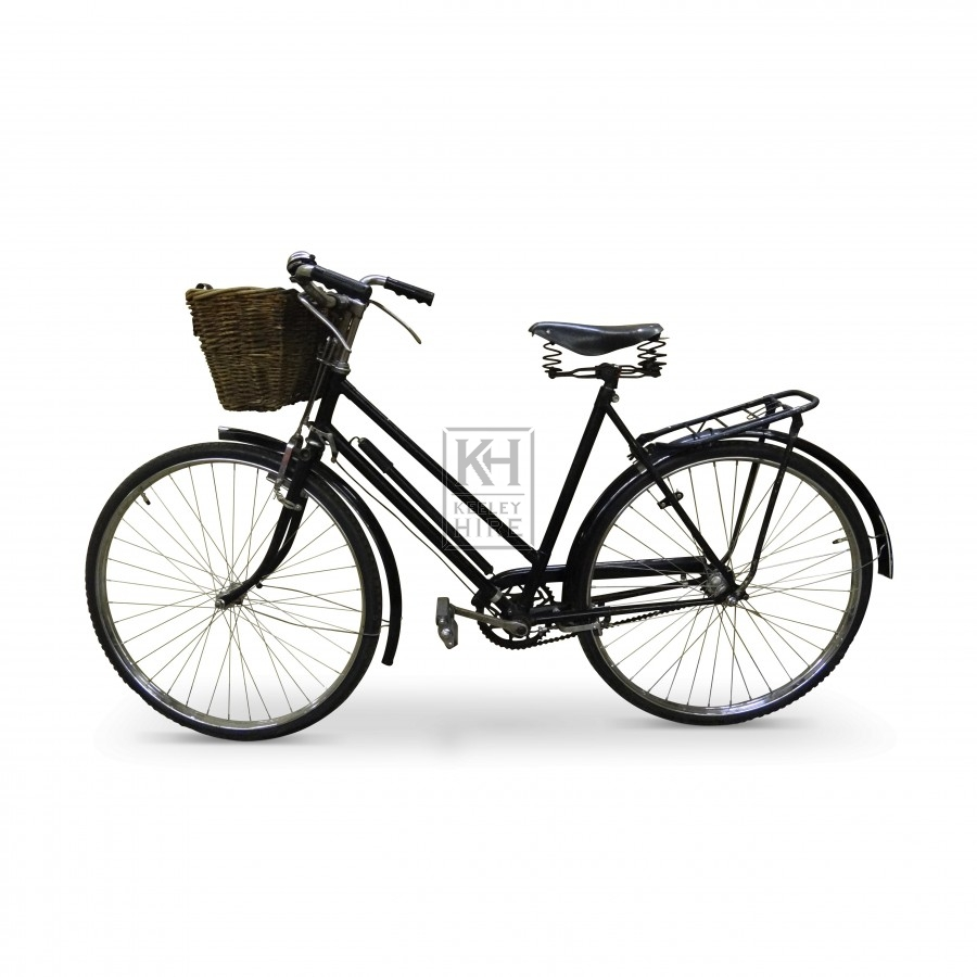 Black Period Bicycle with Basket