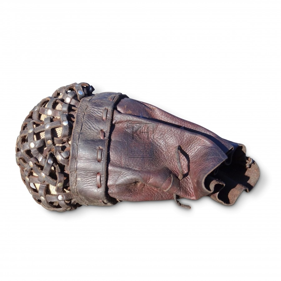 Woven Studded Leather Pouch Bag