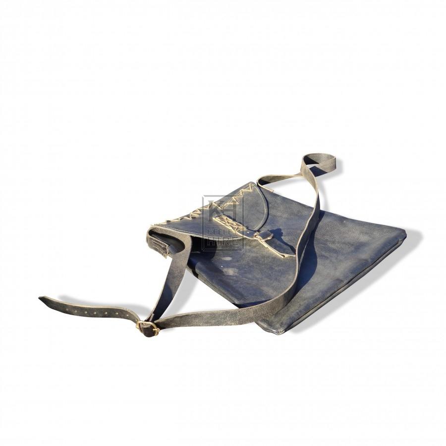 Leather Shoulder Bag with Buckle