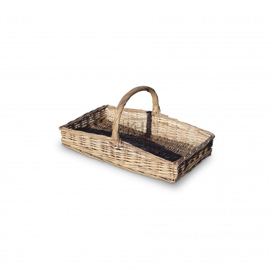 Flat Tray Shaped Hand Basket