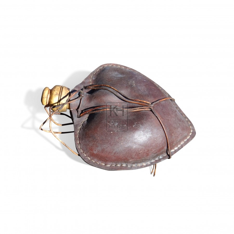 Small Heart Shaped Leather Bottle