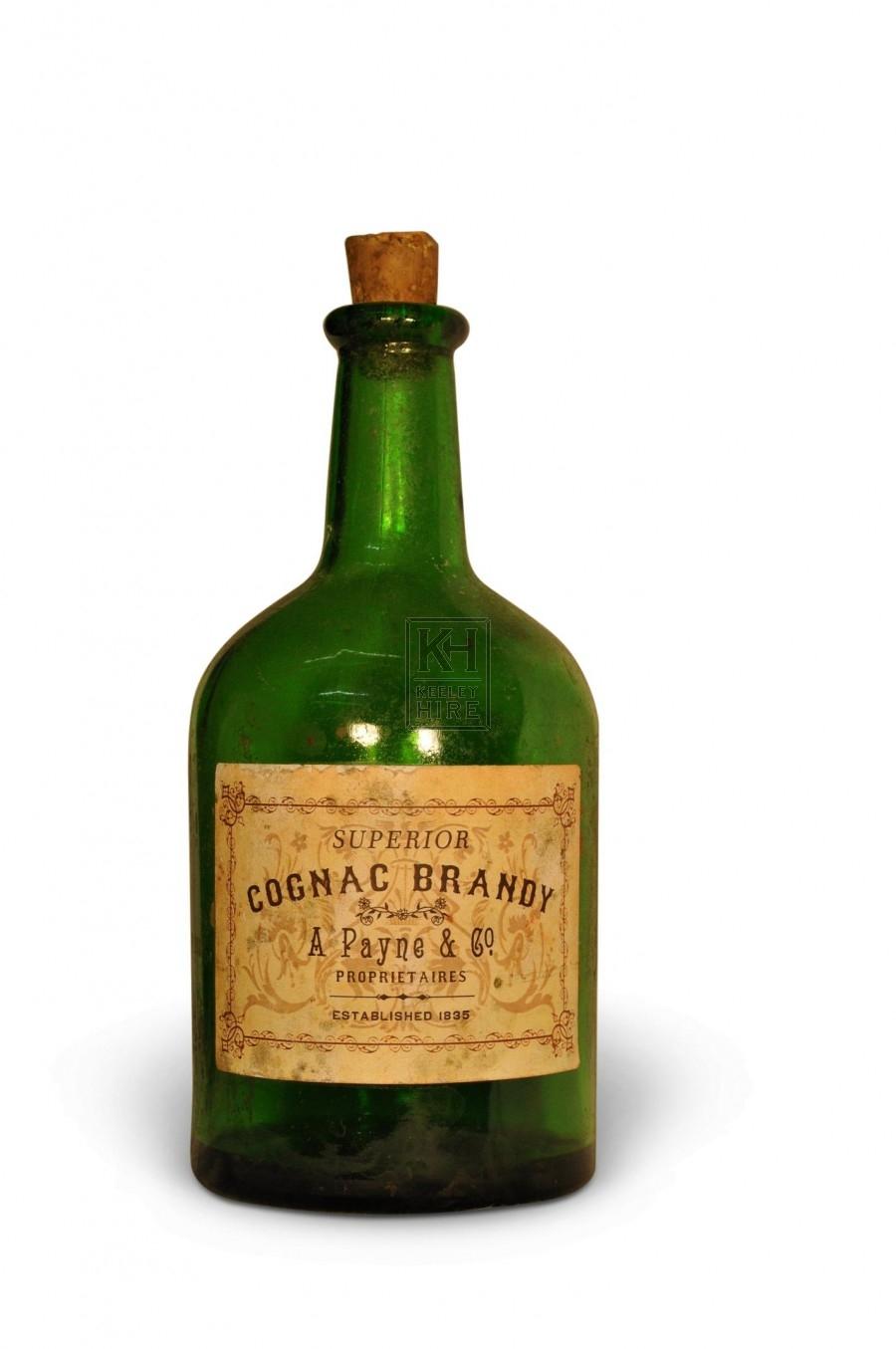 Green glass dumpy bottle