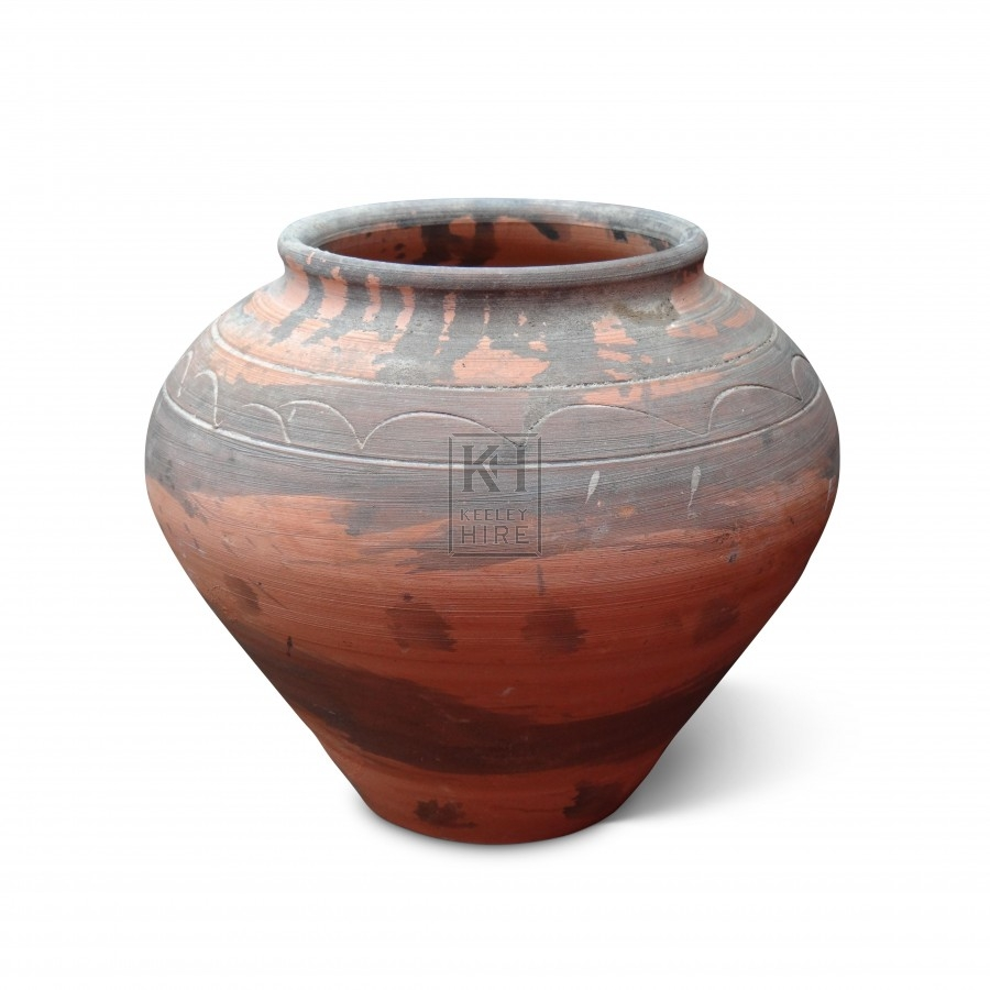 Small Unglazed Clay Jar