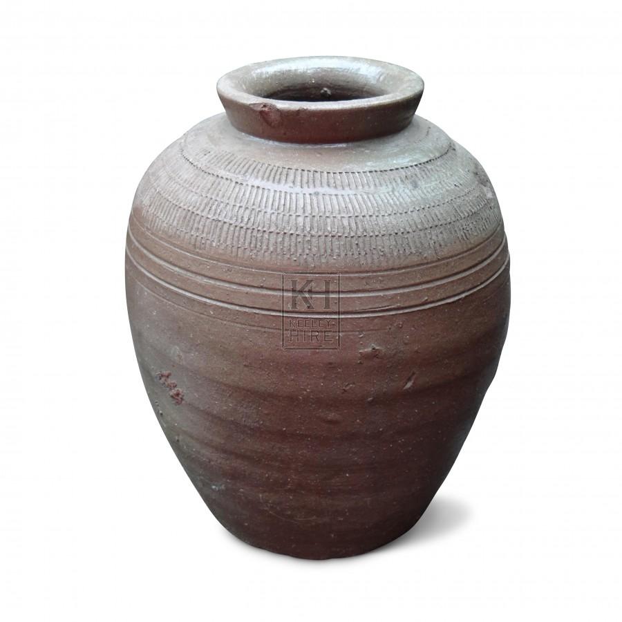 Grey Glazed Pot