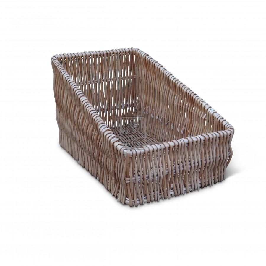 Narrow Wicker Basket Tray