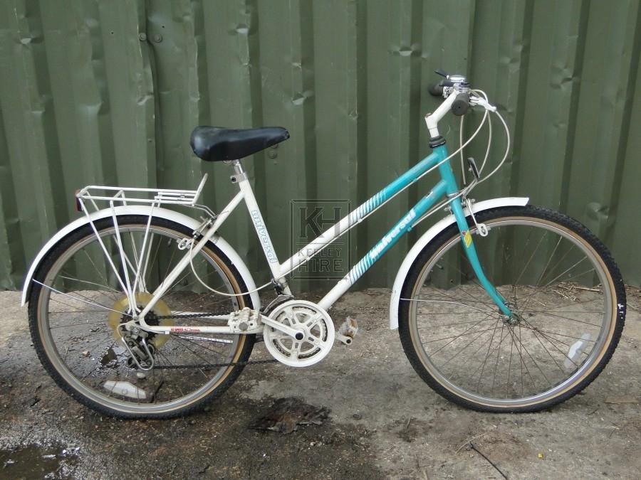 Ladies Green White Bicycle