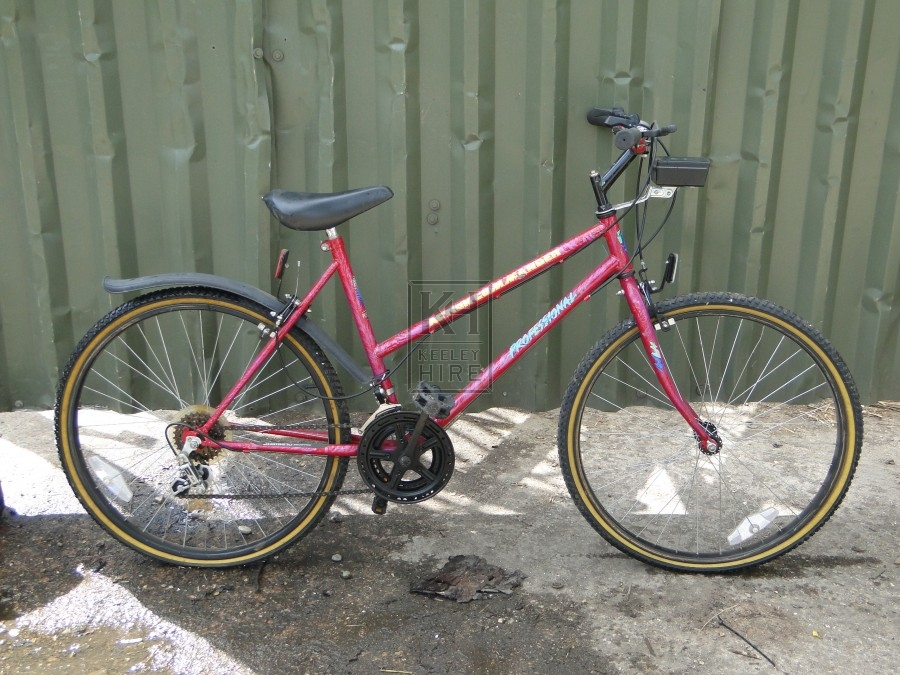 Ladies Red Mountain Bicycle