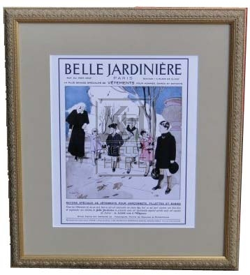 Framed French Fashion Plate #1