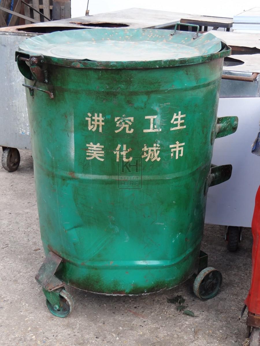 Green Wheeled Bin
