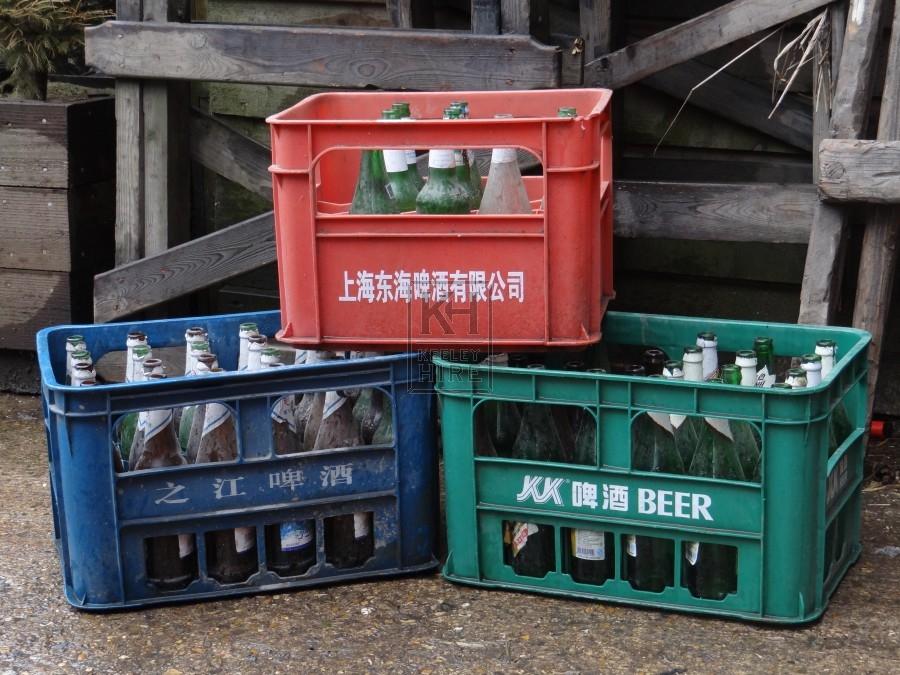 Assorted Plastic Bottle Crates