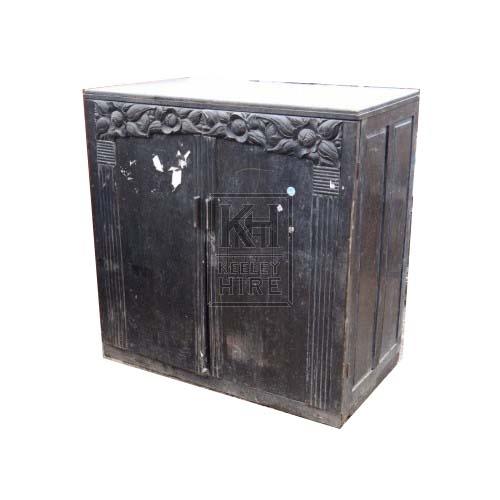 Carved Black Cupboard