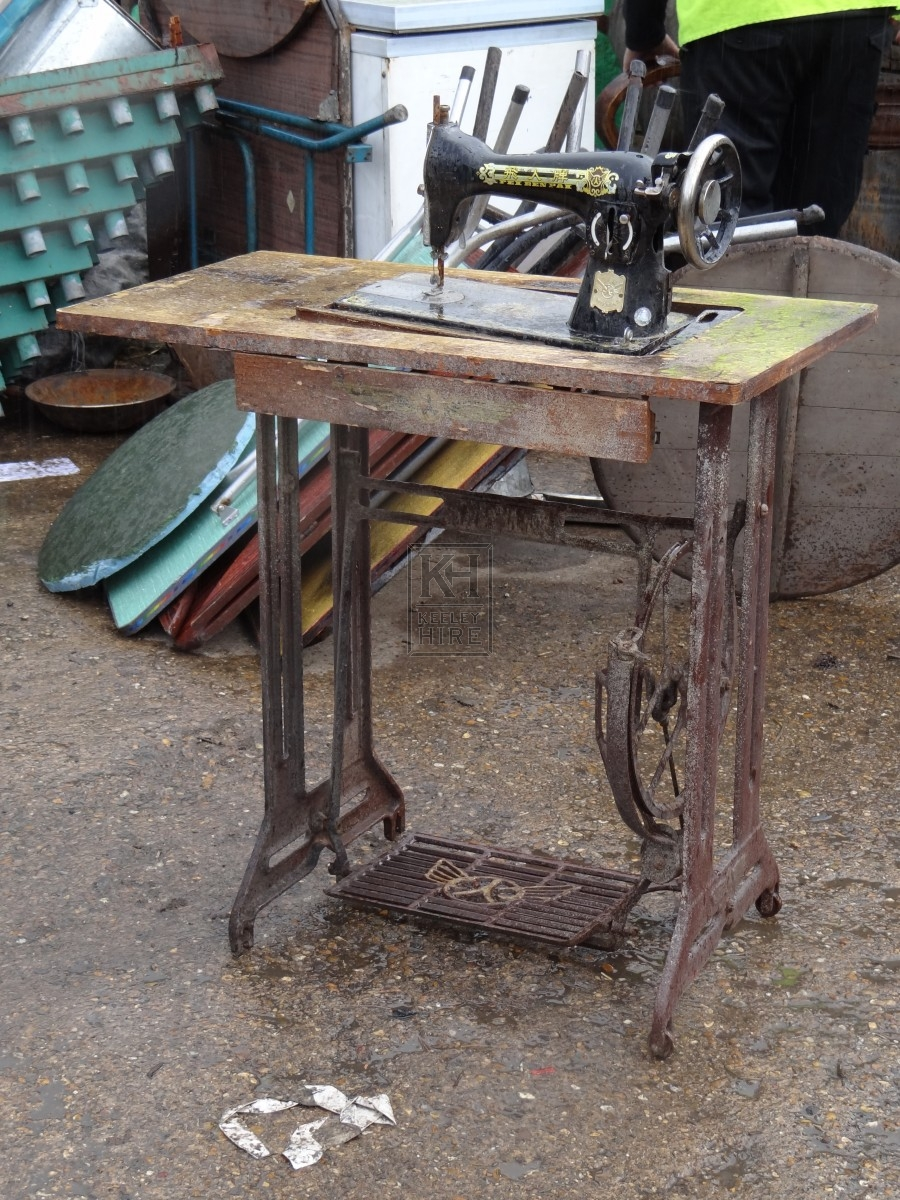 Chinese Sewing Machine and Table