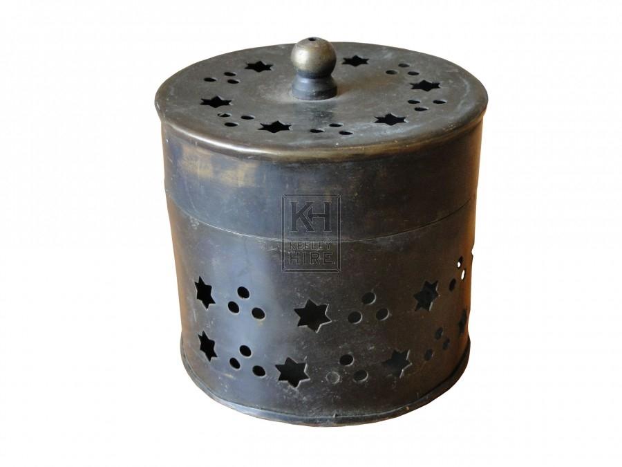 Star Cut Brass Pot