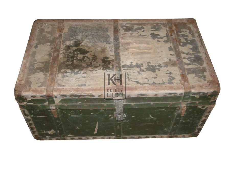 Metal Branded wooden period Chest