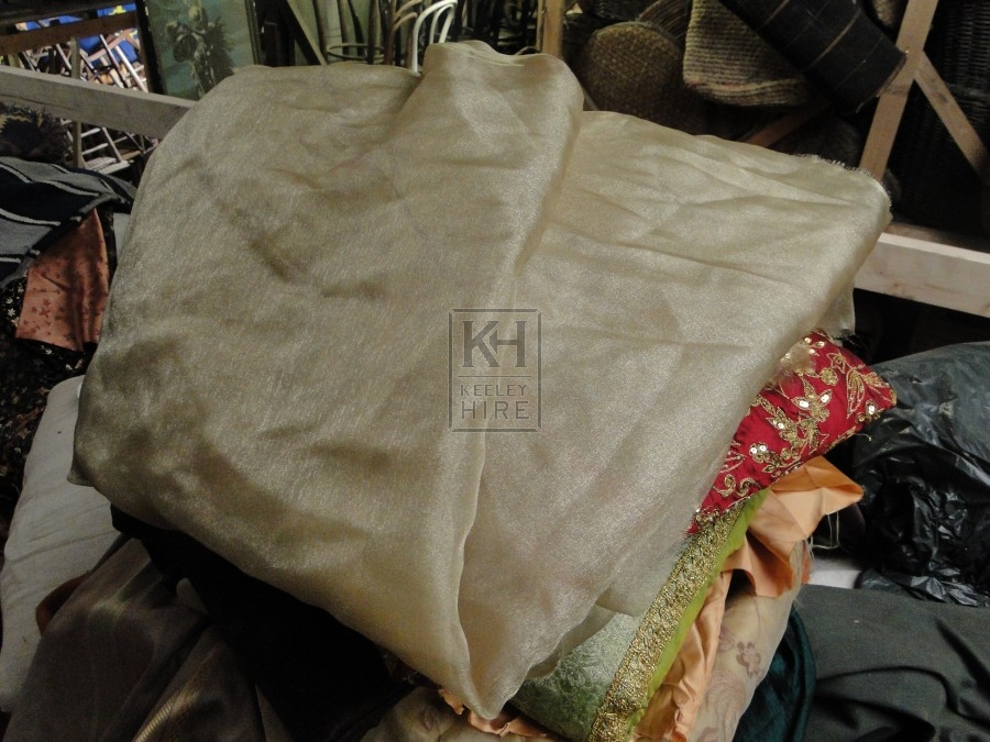 Gold coloured thin muslin fabric