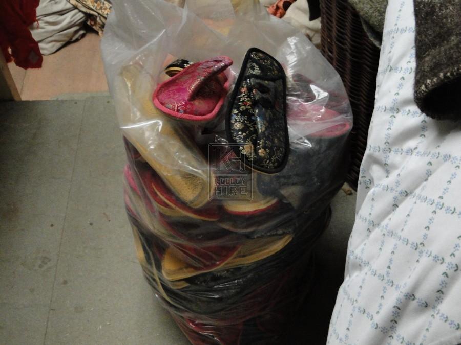 Sack of Oriental/Indian/Asian Slipper Sh