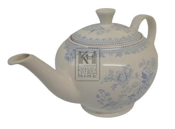 Large blue china teapot